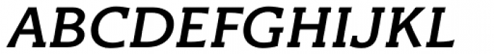 Titla Brus Medium Italic Font UPPERCASE