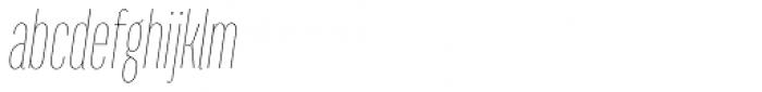 Titular Thin Italic Font LOWERCASE