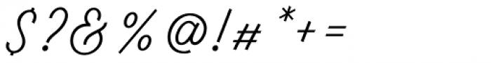 Tiverton Script Light Font OTHER CHARS