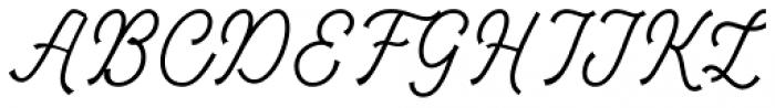 Tiverton Script Light Font UPPERCASE