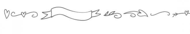 tilly dingbat shapes font Font LOWERCASE