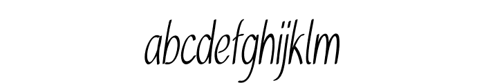 Tinsel-ExtracondensedRegular Font LOWERCASE