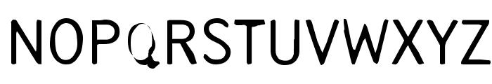 Tjackluder Font UPPERCASE