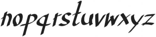 TK Normal B Bold Italic otf (400) Font LOWERCASE