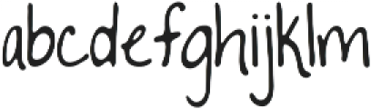 To The Point ttf (400) Font LOWERCASE