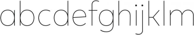 Tobi Pro Thin otf (100) Font LOWERCASE