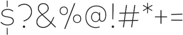 Tobi Pro UltraLight otf (300) Font OTHER CHARS