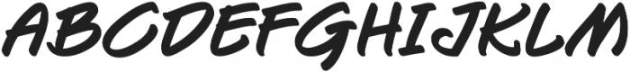 Togashi Bold Italic otf (700) Font UPPERCASE