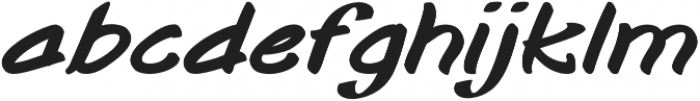 Togashi Bold Italic otf (700) Font LOWERCASE