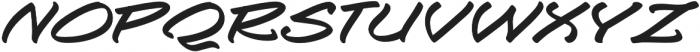 Togashi Extra-expanded Italic otf (400) Font UPPERCASE
