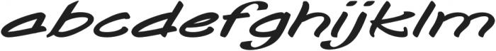 Togashi Extra-expanded Italic otf (400) Font LOWERCASE