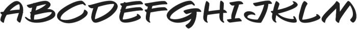 Togashi Extra-expanded Regular otf (400) Font UPPERCASE