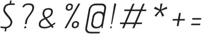 Tolyer Light no.3 Oblique ttf (300) Font OTHER CHARS