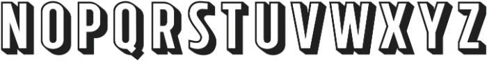 Tolyer X 3D ttf (400) Font LOWERCASE