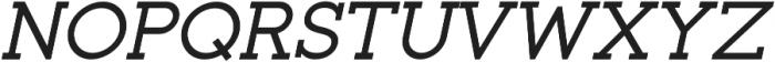Toma Slab Medium Italic otf (500) Font UPPERCASE