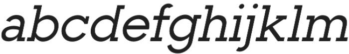 Toma Slab Medium Italic otf (500) Font LOWERCASE