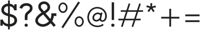 Toma Slab Medium otf (500) Font OTHER CHARS