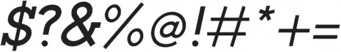 Toma Slab SemiBold Italic otf (600) Font OTHER CHARS