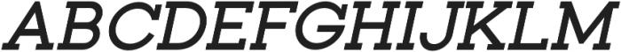 Toma Slab SemiBold Italic otf (600) Font UPPERCASE
