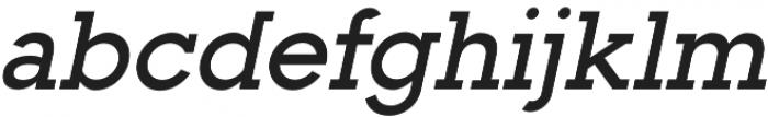 Toma Slab SemiBold Italic otf (600) Font LOWERCASE