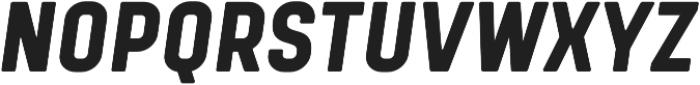 Tomkin Condense ExtraBold Italic otf (700) Font UPPERCASE