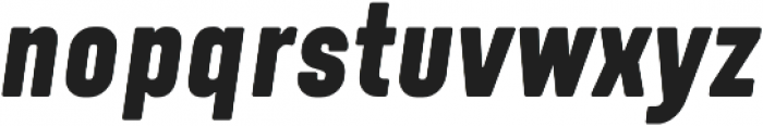 Tomkin Condense ExtraBold Italic otf (700) Font LOWERCASE