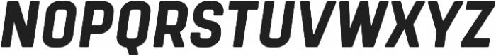 Tomkin Narrow ExtraBold Italic otf (700) Font UPPERCASE