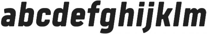 Tomkin Narrow ExtraBold Italic otf (700) Font LOWERCASE