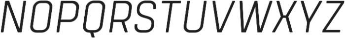 Tomkin Narrow Light Italic otf (300) Font UPPERCASE