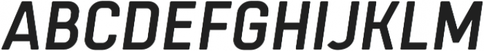 Tomkin Narrow Medium Italic otf (500) Font UPPERCASE