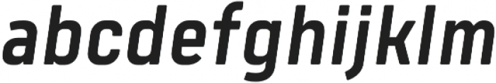 Tomkin Narrow Medium Italic otf (500) Font LOWERCASE