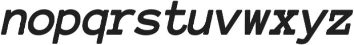 Tomorra Italic otf (400) Font LOWERCASE