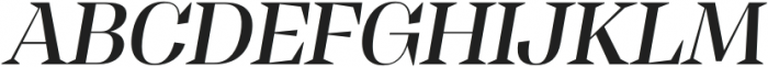 Tonus Display Medium Italic otf (500) Font UPPERCASE