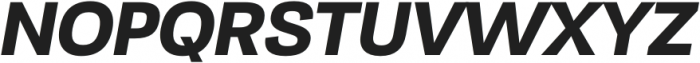 TonusSans-BoldItalic otf (700) Font UPPERCASE
