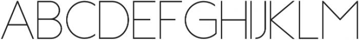 Topazia Regular otf (400) Font UPPERCASE