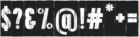 Toppo Negative otf (400) Font OTHER CHARS