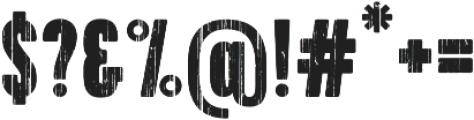 Toppo Regular otf (400) Font OTHER CHARS
