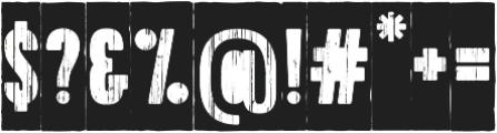 Toppo Stencil Negative otf (400) Font OTHER CHARS