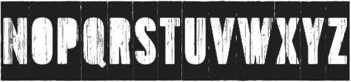 Toppo Stencil Negative otf (400) Font UPPERCASE