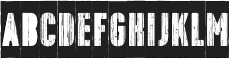 Toppo Stencil Negative otf (400) Font LOWERCASE