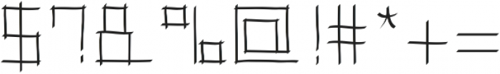 Toranaga ttf (400) Font OTHER CHARS
