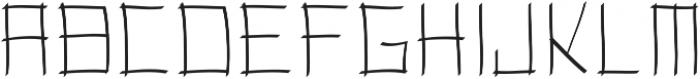 Toranaga ttf (400) Font UPPERCASE