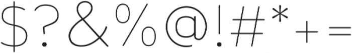 Toriga ExtraLight otf (200) Font OTHER CHARS