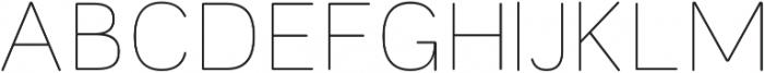 Toriga ExtraLight otf (200) Font UPPERCASE