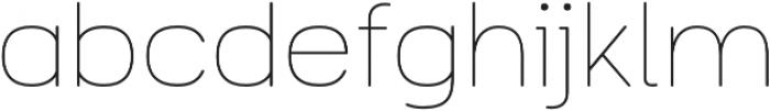 Toriga ExtraLight otf (200) Font LOWERCASE