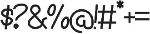 Torsion otf (400) Font OTHER CHARS