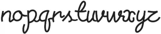 Torsion otf (400) Font LOWERCASE