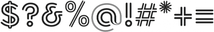 Torus Biline Bold otf (700) Font OTHER CHARS