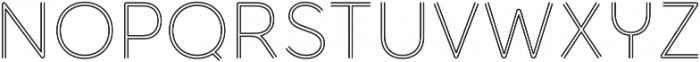 Torus Biline Light otf (300) Font UPPERCASE