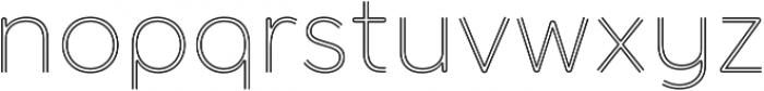 Torus Biline Light otf (300) Font LOWERCASE